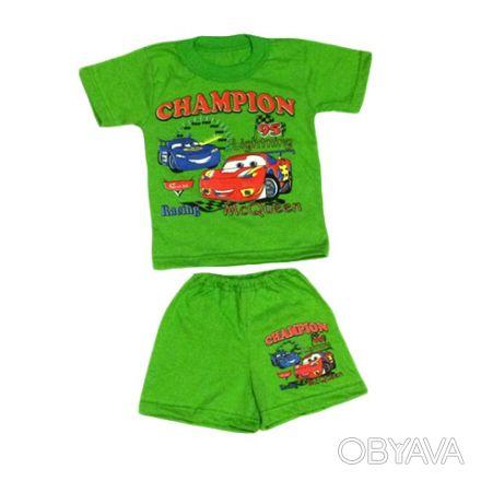 Летний комплект для мальчиков - футболка и шорты.     Материал - кулир, 100% х. Одесса, Одесская область. фото 1