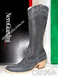 Сапоги женские кожаные фирмы Nero Giardini из Италии оригинал. Киев. фото 1