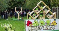 Продам выгодный аттракцион, Бизнесс Тир ANGRY BIRDS 1-2 рогатки. Киев. фото 1