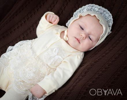 Можете заказать Набор на выписку из роддома для новорожденных молочный (для дево. Киев, Киевская область. фото 1