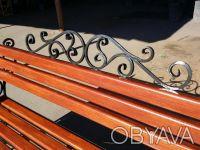 Кованая скамейка. Киев. фото 1