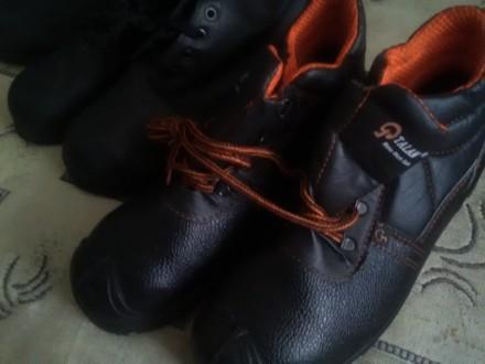 Новые прочные рабочие ботинки с металлическим носком. Дружковка. фото 1