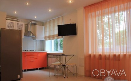 студия,встроенная кухня,двухспальная кровать,жк телевизор,двухспальная кровать,в. Центр, Николаев, Николаевская область. фото 1