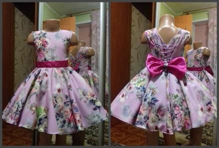 Красивые платья для ваших принцесс!!!  Под заказ возможно пошить от роста 86 до. Киев. фото 1