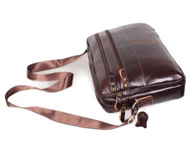 b5d8c3a787b6 Мужская кожаная сумка A4 Dovhani Bon3923-2 Коричневая