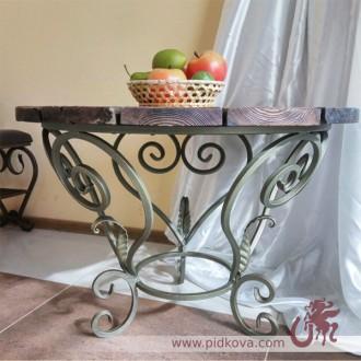 Кованый столик, оригинальный кованый столик, металлический столик, стол ковка. Харьков. фото 1