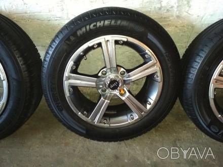 Продам диски Carre с резиной Michelin Energy Saver Plus 195/60 R15 в хорошем сос. Киев, Киевская область. фото 1