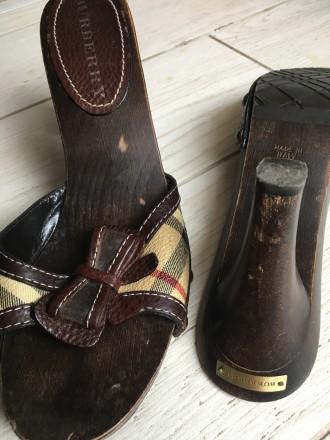 Взуття фірми Burberry на дерев'яній основі, розмір 39.. Тернополь, Тернопольская область. фото 3