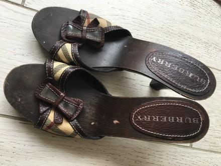 Взуття фірми Burberry на дерев'яній основі, розмір 39.. Тернополь, Тернопольская область. фото 4