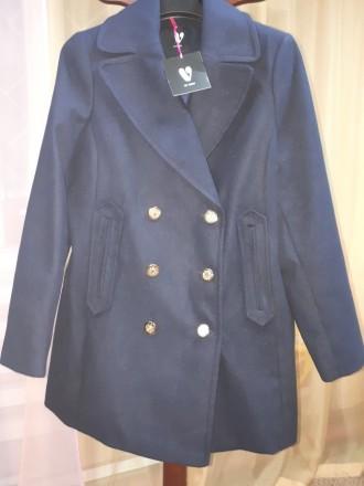 Новое фирменное пальто-шинель королевский синий (l) Англия. Бердянск. фото 1