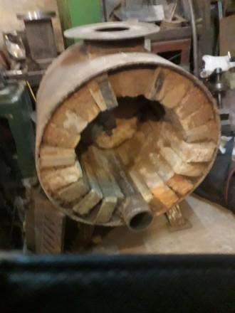 печь из обечайки ф 600мм х10 мм футерована кирпичем, парообразователь и подача п. Сумы, Сумская область. фото 3