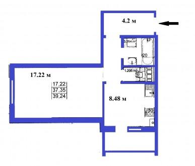 Просторная однокомнатная квартира в новом доме по ул. Красносельского - Глебова.. Чернигов, Черниговская область. фото 6