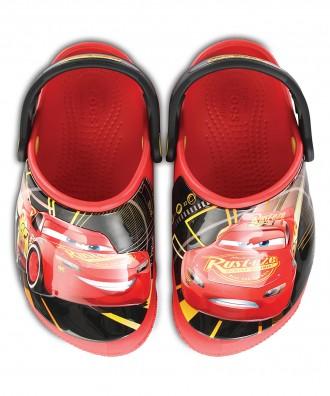 Кроксы crocs Cars McQueen раз. J3 с мигалками. Київ. фото 1