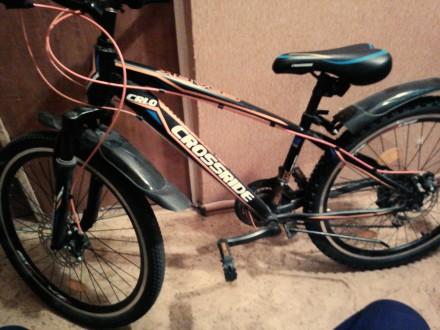 Продам юношеский велосипед CROSSRIDE в отличном состоянии. Бровары. фото 1