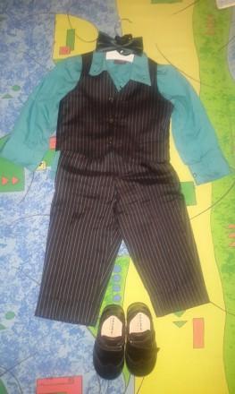 Продам на мальчика нарядный костюмчик с туфельками. Одесса. фото 1