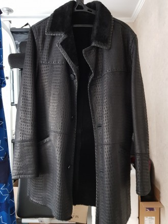 Кожанная куртка E.Ferretti (Italia), дубленка, мех ягненка. обмен вело. Киев. фото 1