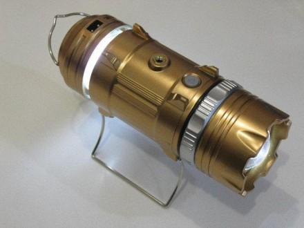 Кемпинговый фонарь Bailong GSH-9699 с USB и солнечной панелью. Харьков. фото 1