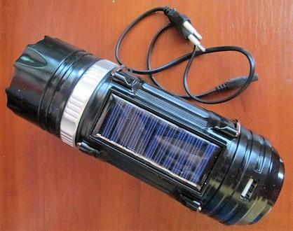 Кемпинговый фонарь Bailong GSH-9688 с USB и солнечной панелью. Харьков. фото 1