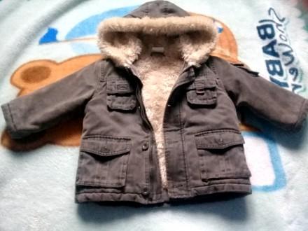 Курточка-дубленка зимняя на мальчика 9-18 мес. Днепр. фото 1