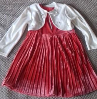 Нарядный комплект: платье+болеро. Изюм. фото 1
