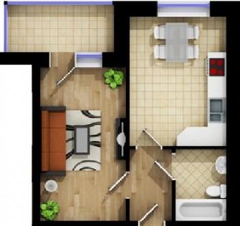 1-кімнатна квартира у новобудові. Ивано-Франковск. фото 1