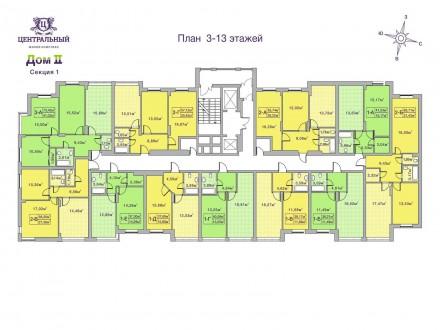Кращий комплекс Ірпеня, в оточенні зелених насаджень. Квартира з другому будинку. Ирпень, Киевская область. фото 3