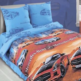 Детское постельное белье для мальчика, Мерседес; 1,5 и 2 спальное, евро размеры. Харьков. фото 1