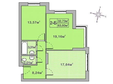 Кращий комплекс Ірпеня, в оточенні зелених насаджень. Квартира в пешому будинку . Ирпень, Киевская область. фото 2