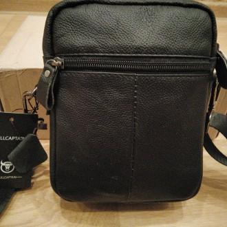"""""""BULLCAPTAIN"""" сумка з високоякісної натуральнї шкіиі.   Довгий ремінь можна ре. Тернополь, Тернопольская область. фото 3"""