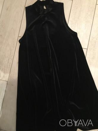 Плаття коротке, чорне, трапецією. Не облягає. Розмір S.. Тернополь, Тернопольская область. фото 1