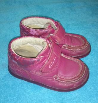 Ботинки clarks кожаные, размер 23, стелька 14 см. Яготин. фото 1