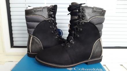 columbia новый оригинал размер 35 кожаные сапоги ботинки ( 22 см по стельке). Харьков. фото 1