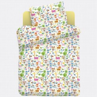 Детское постельное белье, Звероленд; в кроватку, полуторное, на резинке. Харьков. фото 1