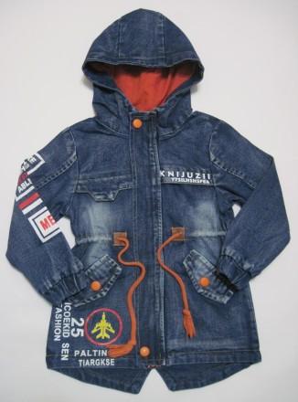 Детская джинсовая куртка на мальчика (100 см - 130 см). Харьков. фото 1