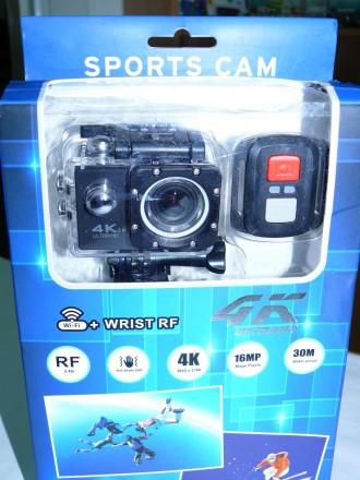 Экшен камера V60-S RF 4K, WiFi, видеокамера. аналог GoPro. Пульт Д/У.. Львов. фото 1