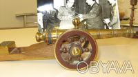 Коллекционный подарочный макет старинной пушки(латунь+дерево). Киев. фото 1