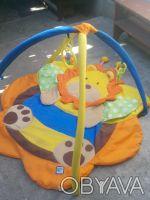 Игровой коврик для вашей крохи,в комплекте пять игрушек на удобных карабинчиках.. Хмельницкий, Хмельницкая область. фото 3