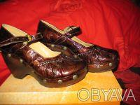 Стильные женские туфли, кожа, фирмы MAGRIT-производство Италия. Цвет коричневый. Киев, Киевская область. фото 2