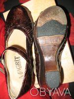 Стильные женские туфли, кожа, фирмы MAGRIT-производство Италия. Цвет коричневый. Киев, Киевская область. фото 7