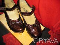 Стильные женские туфли, кожа, фирмы MAGRIT-производство Италия. Цвет коричневый. Киев, Киевская область. фото 5