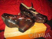 Стильные женские туфли, кожа, фирмы MAGRIT-производство Италия. Цвет коричневый. Киев, Киевская область. фото 4