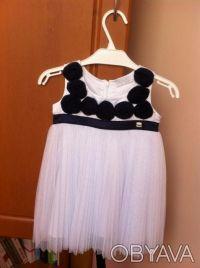 Красивое нарядное платье для девочки. Одевали только 1 раз для фото. Платье бело. Винница, Винницкая область. фото 2