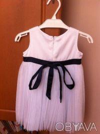 Красивое нарядное платье для девочки. Одевали только 1 раз для фото. Платье бело. Винница, Винницкая область. фото 3