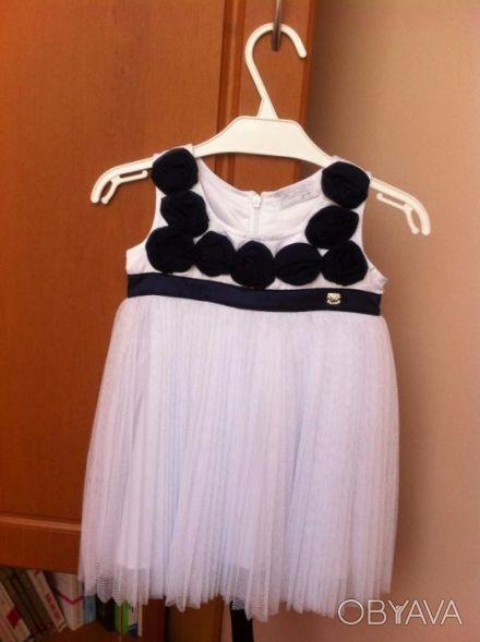 Красивое нарядное платье для девочки. Одевали только 1 раз для фото. Платье бело. Винница, Винницкая область. фото 1