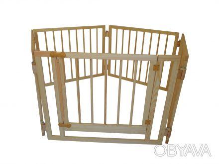 Манеж детский деревянный на 5 секций с воротами Детский деревянный манеж служит. Киев, Киевская область. фото 1