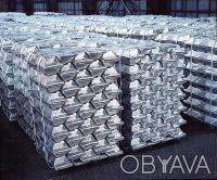 Чушки алюминиевые А999, А8, А6, А0, А7 и др. на экспорт.. Днепр. фото 1