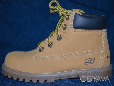 Брендовые  демисезонные ботинки Skechers , оригинал, привезены из Америки   .Ра. Киев, Киевская область. фото 1
