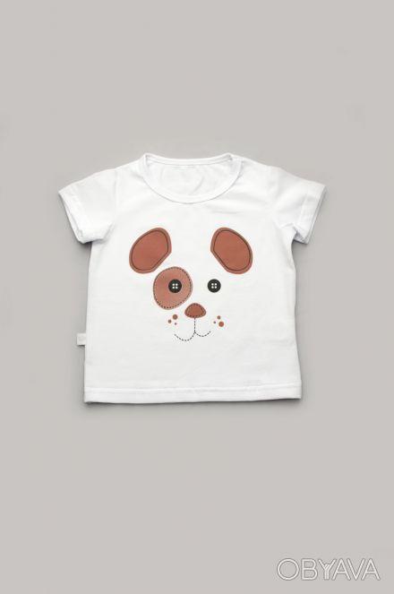 """Можете заказать Детская футболка для мальчика """"Щенок"""" (white) на нашем сайте """"ИМ. Киев, Киевская область. фото 1"""