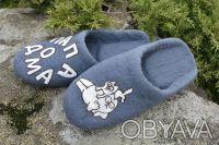тапочки шерстянные ручной работы. Киев. фото 1