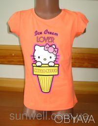 Детская футболка для девочки Китти, Hello kitty  Sun Sity Франция   3-8лет В . Київ, Київська область. фото 7